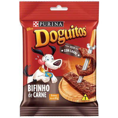 Bifinho para Cães Sabor carne Doguitos com 8 unid 65g