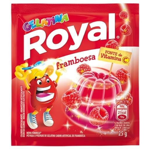Gelatina Royal sabor Framboesa 25g