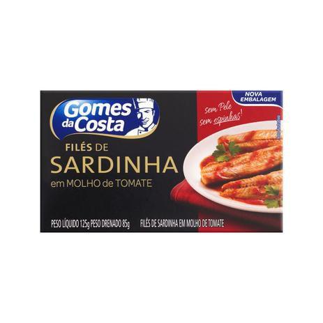 Filés de Sardinha Gomes da Costa em Molho de Tomate 125g