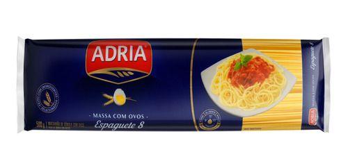 Massa para Macarrão com Ovos Adria Espaguete nº 8 500g