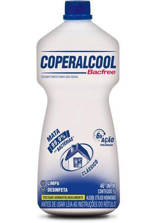 Álcool Coperalcool Bacfree 46° INPM 1litro