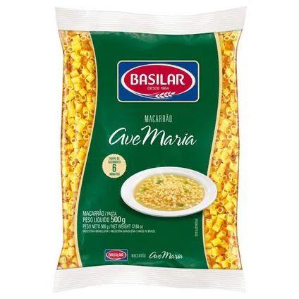 Massa para Macarrão Basilar Ave Maria 500g