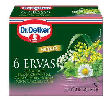 Chá 6 Ervas Dr. Oetker 10g com 10 Saquinhos