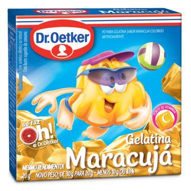 Gelatina Dr. Oetker sabor Maracujá 20g