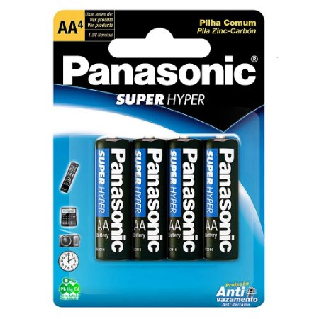 Pilha Panassonic AA com 4 Unid