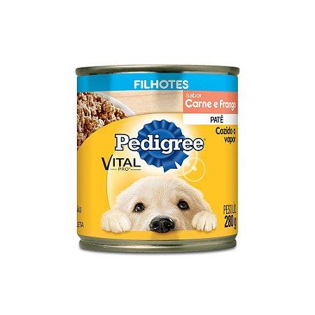 Latinhas/ Ração/ Patê para Cachorro sabor Frango Pedigree - Filhote 280g