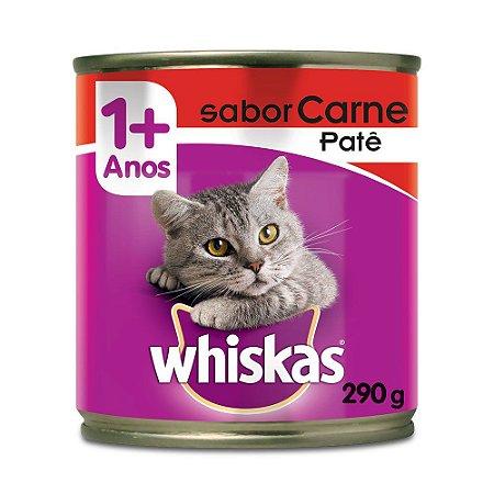 Latinhas/ Ração/ Patê  para Gatos sabor Carne Whiskas - Adulto 290g
