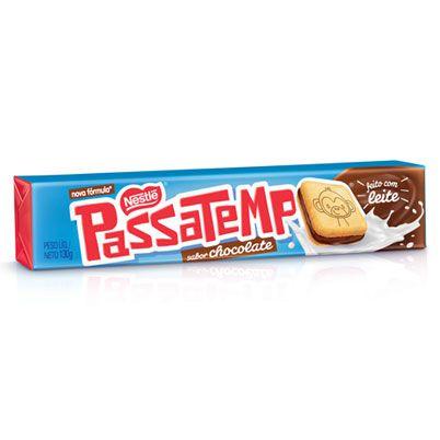 Biscoito Passatempo Recheado sabor Chocolate 130g