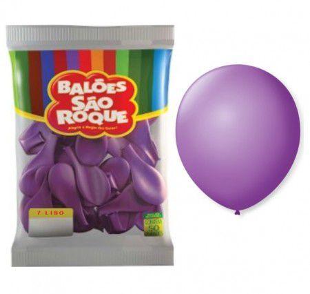 Balões Roxo São Roque nº7 embalagem com 50 unid