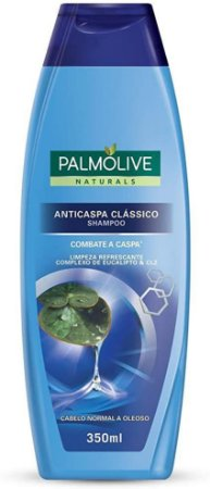 Shampoo Palmolive Anticaspa Classico Limpeza Refrescante com Complexo de Eucalipto 350ml