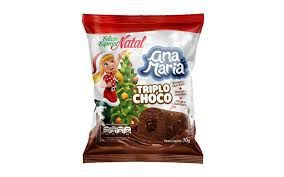 Bolinho Ana Maria Triplo Chocolate Natal 70g