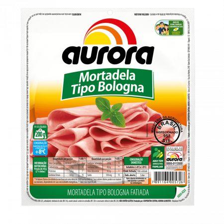 Mortadela Tipo Bologna  Fatiado Aurora 200g