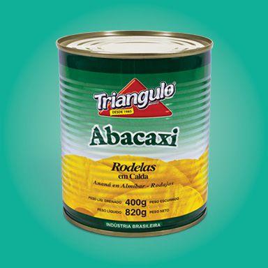 Abacaxi Em Rodelas Triangulo 820g / 400g Drenado