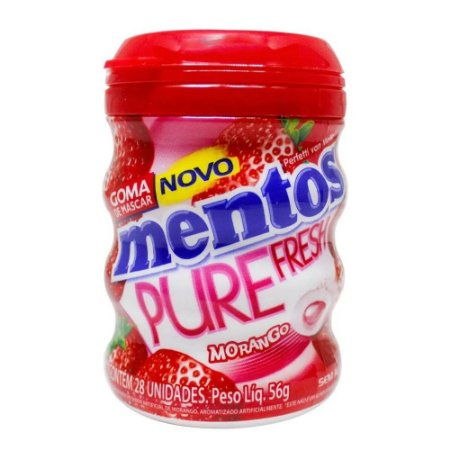 Goma De Mascar Mentos Pure Fresh Morango  56g