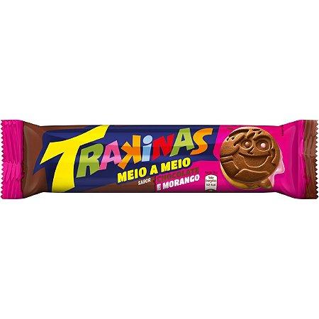 Trakinas Recheado Sabor Chocolate e Morango 126g