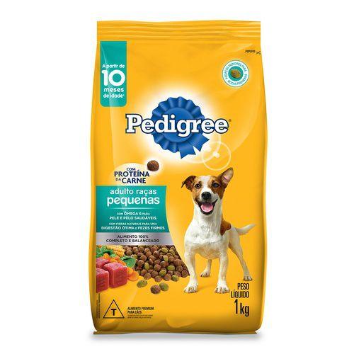 Ração para Cachorro Adulto Raças Pequenas Saúde Ativa - Pedigree 1 kg