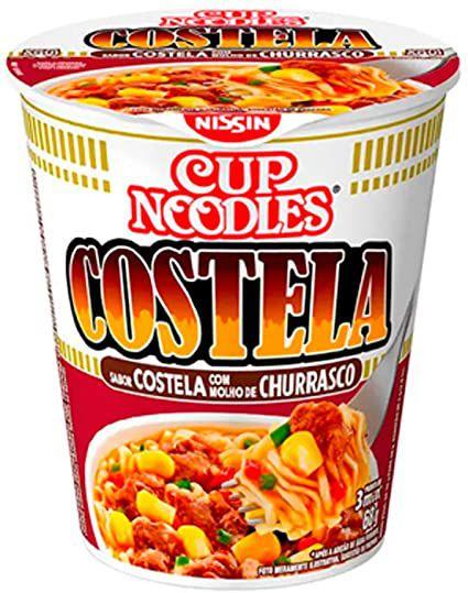 Cup Noodles Nissin Sabor Costela Com Molho De Churrasco 70g