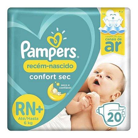 Fralda Pampers Confort Sec Tamanho RN 20 Unid