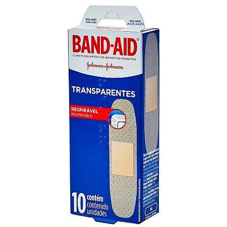 Band-Aid Transparente Johnson e Johnson 10un