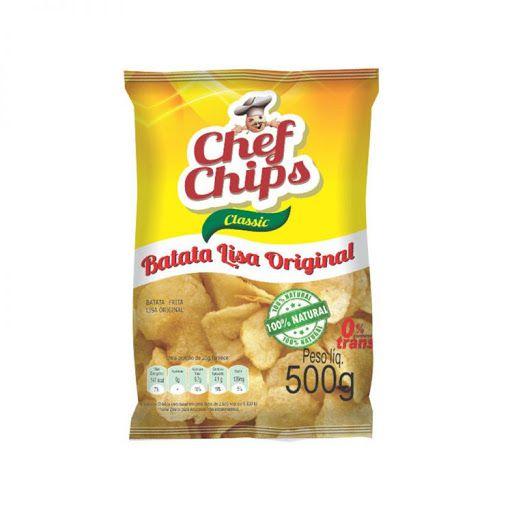 Batata Lisa Original Chef Chips Classic 500g