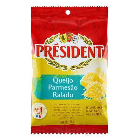 Queijo Ralado Parmesão President 50g