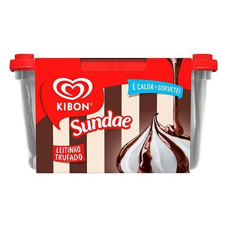 Sorvete Kibon Sundae Letinho Trufado pote 1,5 Litros