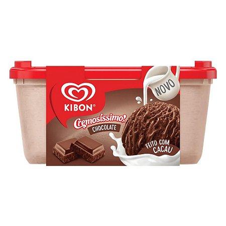 Sorvete Kibon Cremosíssimo!!! Chocolate pote 1,5 Litros