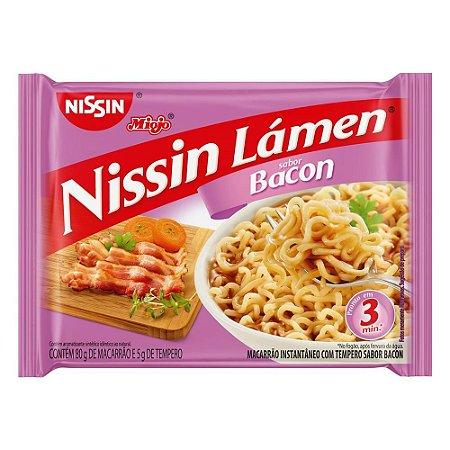 Miojo Nissin Lámen Sabor Bacon 80g