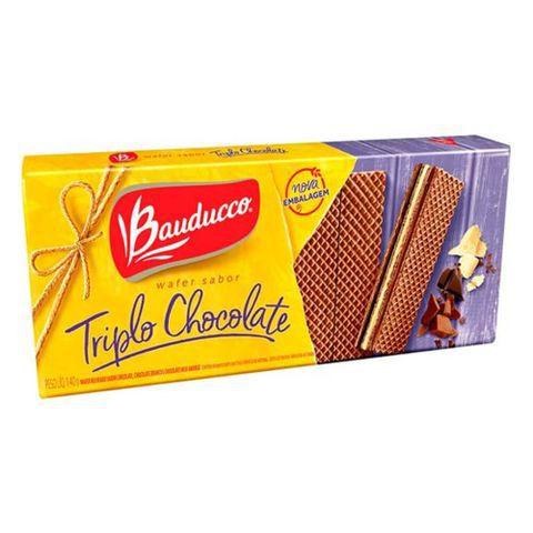 Biscoito Bauducco Wafer Sabor Triplo Chocolate