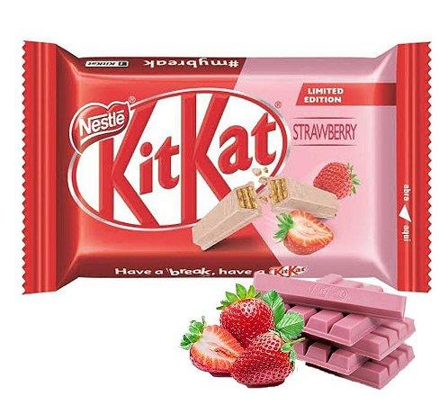 Chocolate Kit Kat  Nestle Branco Morango 41,5g
