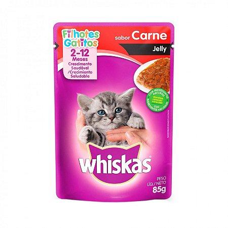 Whiskas Sache Jelly Jr Carne 85G