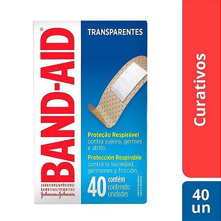 Curativos Band-Aid Transparente 40 Unidades