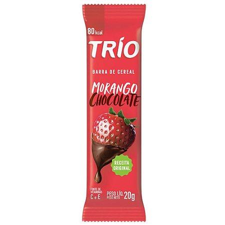 Barra Cereal Trio Chocolate Morango 20G