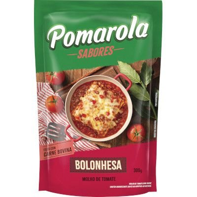 Molho De Tomate Pomarola Sachê 300g Bolonhesa