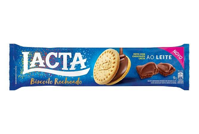 Biscoito Recheado Lacta Chocolate Ao Leite 90g