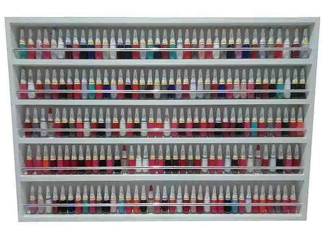 Expositor De Esmaltes C/barra De Alumínio -p/200esmaltes 94x60x6