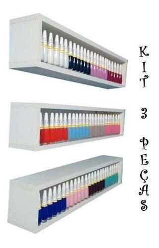 Kit 3 Expositor De Esmaltes 60lx13ax10p P/manicures Nicho