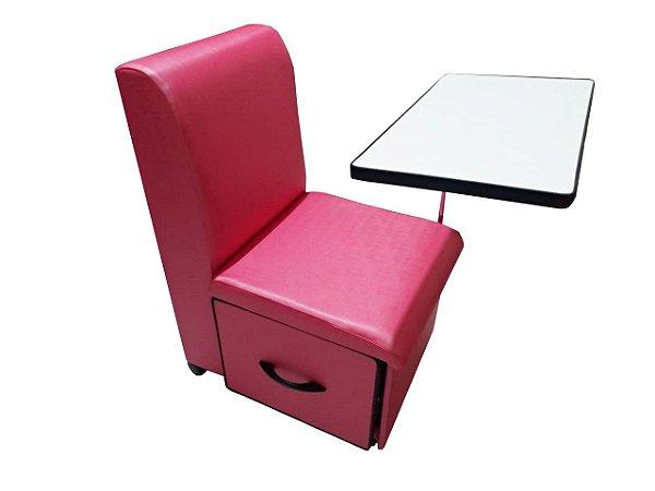 Cirandinha Cadeira P/manicure COM GAVETA Factor Rosa Pink
