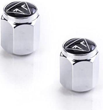Tampas de válvula cromada com logotipo de resina * Consultar modelos na descrição*