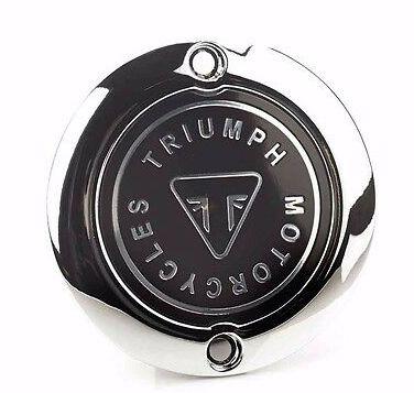 Emblema de Embreagem Cromado - Bonneville, Bonneville Bobber,Thruxton, Street Twin, Street Scrambler, Scrambler 1200, Speed Twin