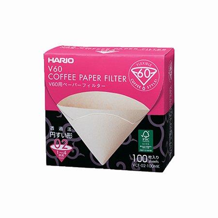 Filtro de Papel - Hario V60 02 (100 un.)