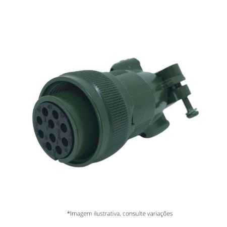 Conector Militar Amphenol 10 pinos Fêmea - MS3106A18-1S