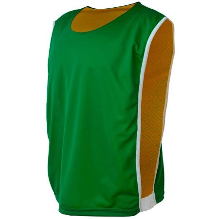 Colete de Futebol Dupla Face Dry Verde com Amarelo