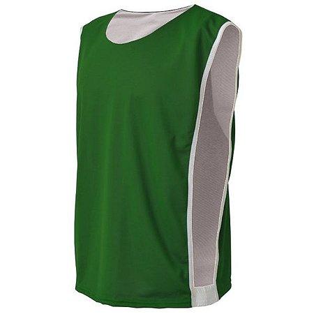 Colete de Futebol Dupla Face Dry Verde com Branco