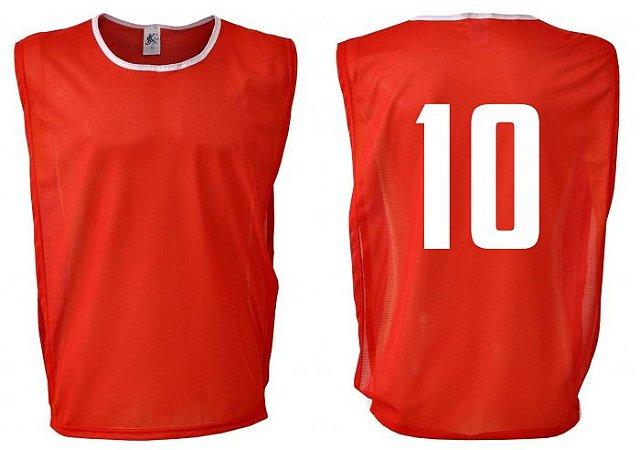 Coletes de Futebol Numerados - Kit com 10 unidades