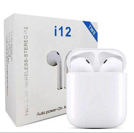 Fone De Ouvido Sem Fio 5.0 I12 TWS Touch ( Bluetooth)