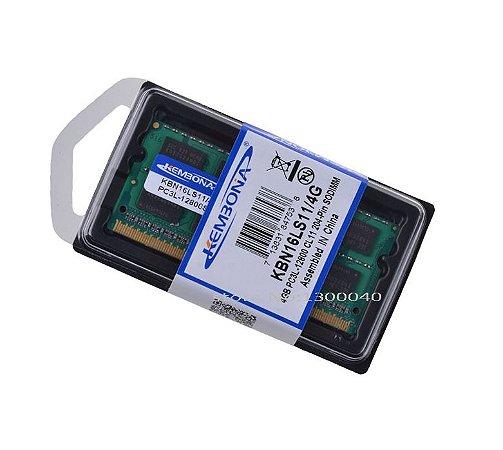 Memória de Notebook DDR3 - PC3L - 4GB/1600MHZ - 12800MB/S  1.35V