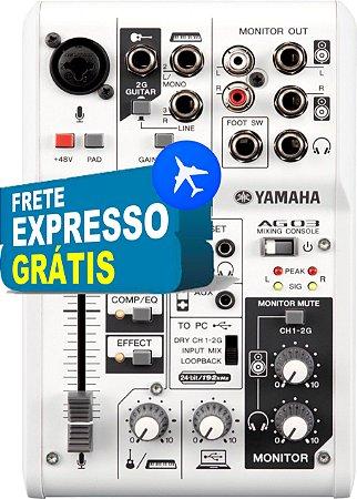 Mesa de Som USB Interface 3 Canais AG03 - Yamaha