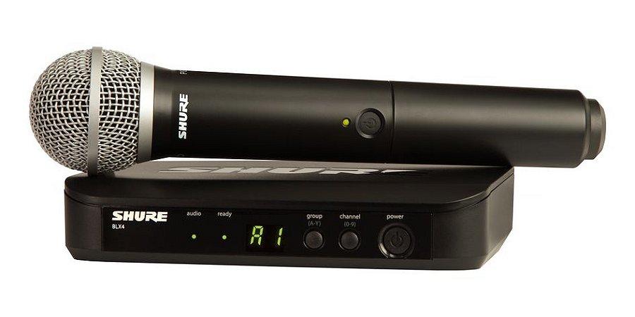 Sistema Microfone sem Fio BLX24BR/PG58-J10 Vocal - Shure