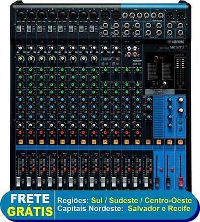 Mesa de Som Analógica 16 Canais com saída USB e efeitos MG16XU - Yamaha